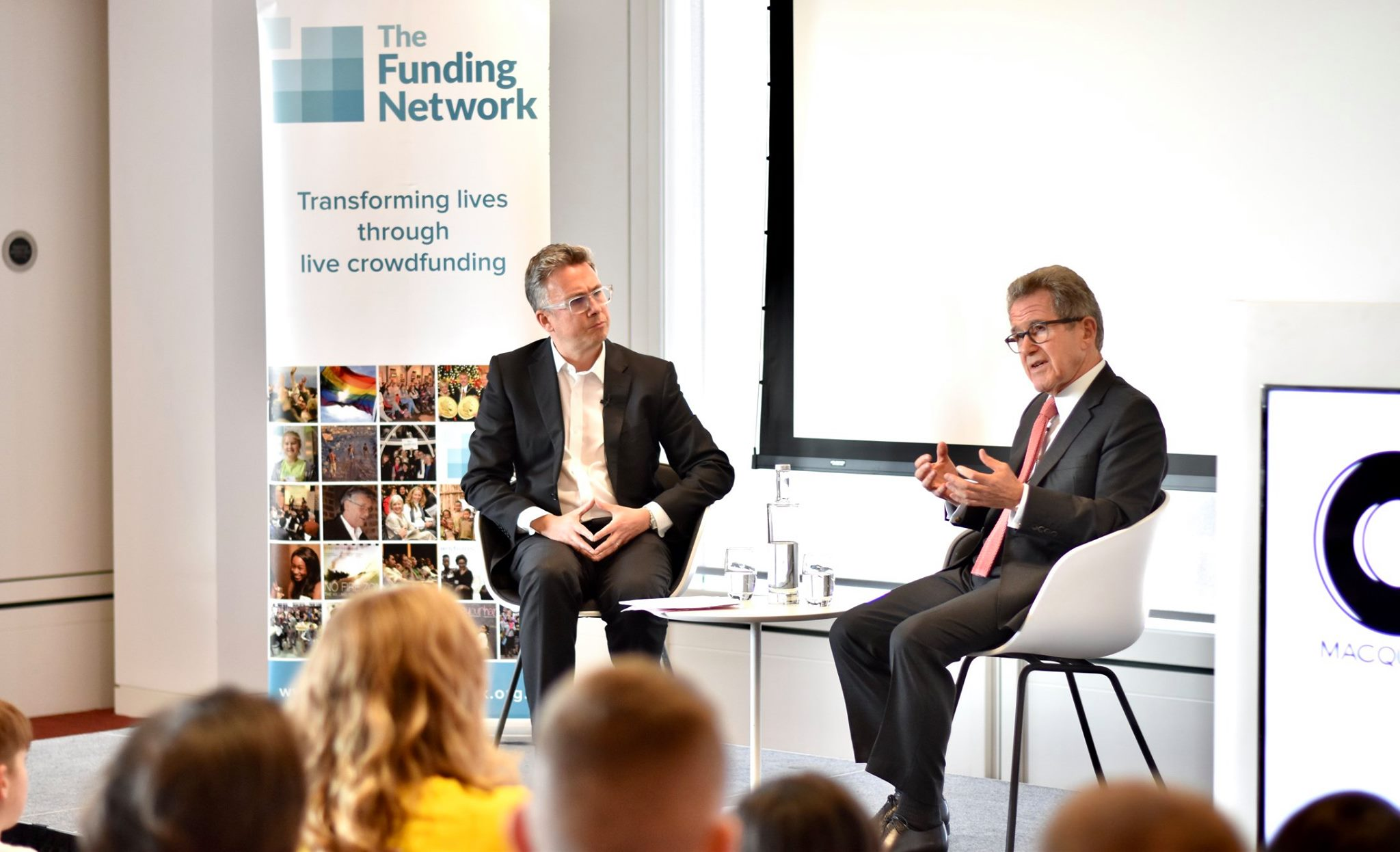 Iain Anderson and Lord John Browne fireside chat