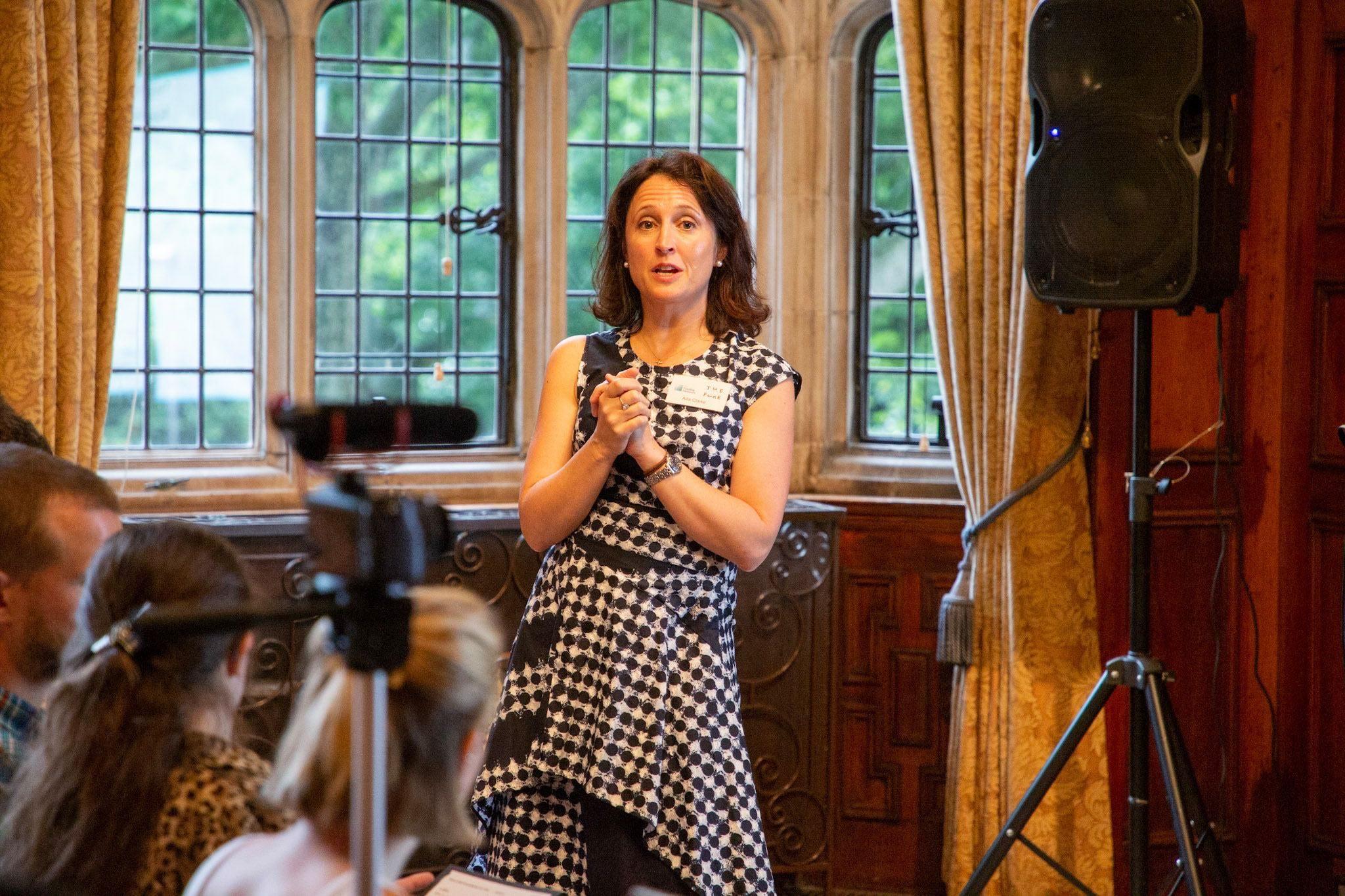 Trustee Ailis Clarke opening welcome