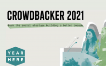 Crowdbacker 2021 promotional banner